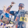 Sam Sunderland (GBR) of Red Bull KTM Factory Team at the finish line of stage 12 of Rally Dakar 2017 from Rio Cuarto to Buenos Aires, Argentina on January 14, 2017. // Flavien Duhamel/Red Bull Content Pool // P-20170114-00160 // Usage for editorial use only // Please go to www.redbullcontentpool.com for further information. //